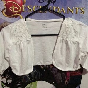 A white small Cardigan for girls